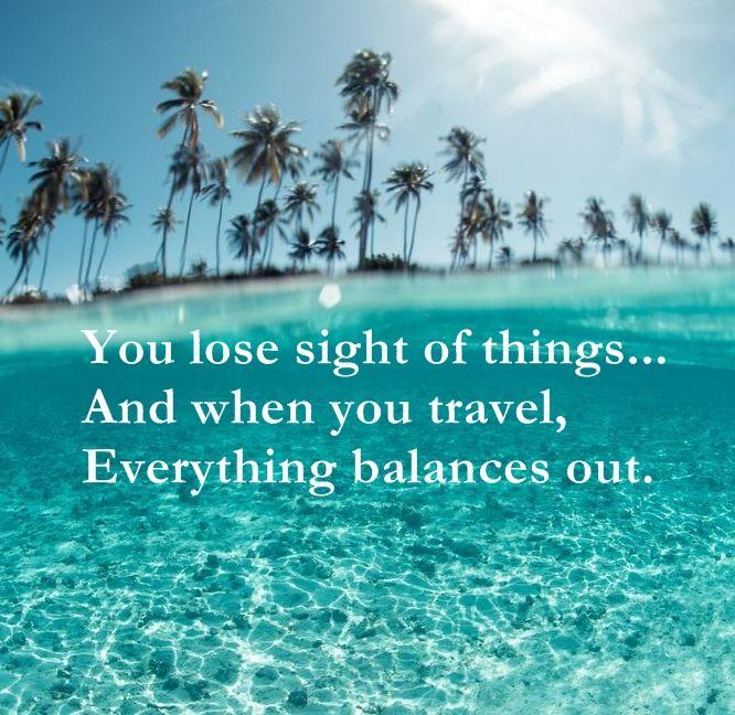 Travel balances out
