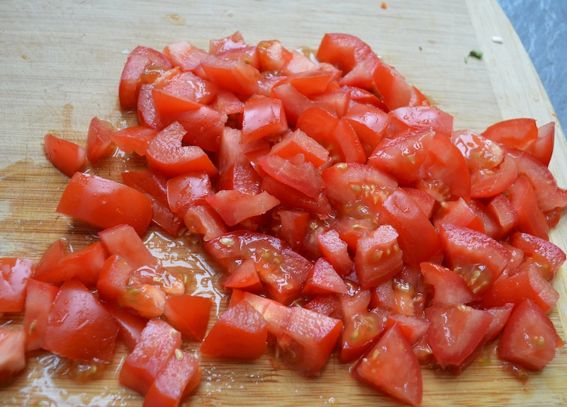 tomatoes chopped